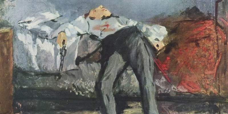 861 - The Suicide of Edouard Manet LARGE