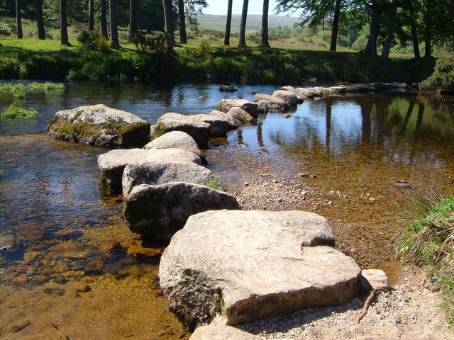 Stepping_stones_across_West_Dart_-_geograph.org.uk_-_183648