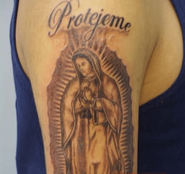 Resultado de imagen para tattoo santa muerte protegeme