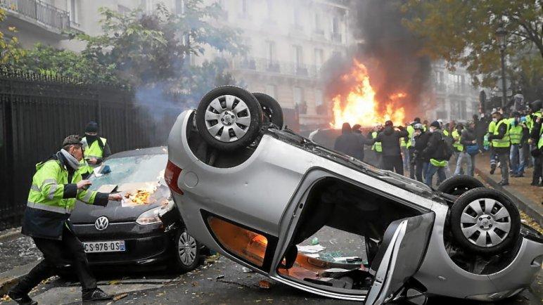 n 40 - 28 imágenes que muestran el drama de las protestas en Francia