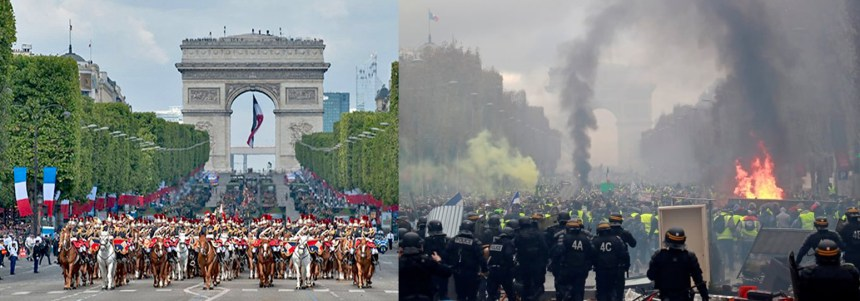 x 11 - 28 imágenes que muestran el drama de las protestas en Francia