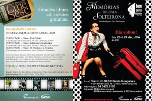 Sesc Cinema e Teatro Julho