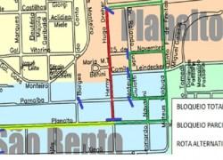 Trânsito terá alterações na região do bairro Planalto nesta sexta em Bento