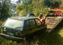 Automóvel furtado é recuperado em Bento