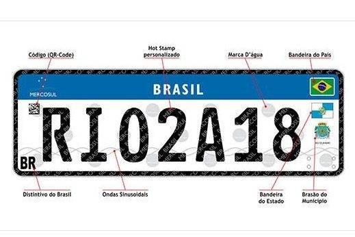 Placa padrão Mercosul passará a valer no estado de São Paulo a partir de junho, afirma despachante