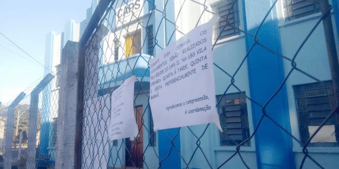 Prédio do Centro de Atenção Psicossocial é desocupado por problemas estruturais