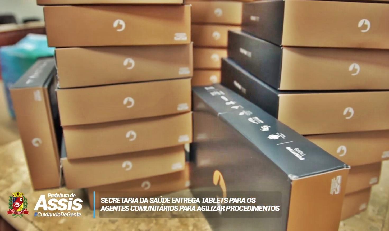 Agentes comunitários de saúde recebem tablets para melhorar serviço prestado à população