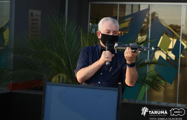 """""""Tarumã Mais Segura"""" instala mais de 300 câmeras pela cidade e inaugura Central de Monitoramento"""