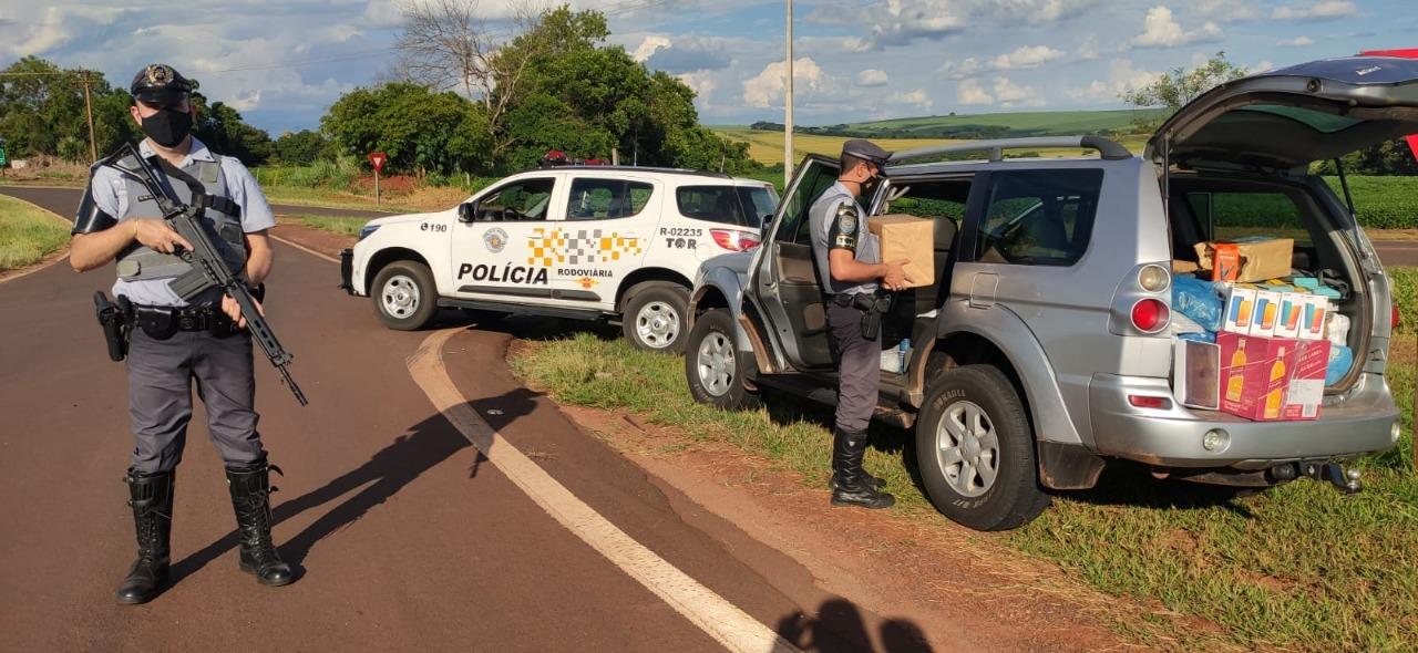 Polícia aborda veículo na Rodovia Jorge Bassil Dower em Rancharia e apreende diversos produtos sem nota fiscal