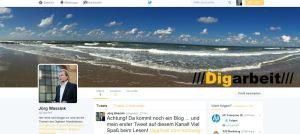 Screenshot von Digarbeit auf Twitter