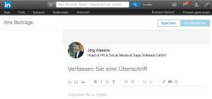 Einen LinkedIn Blog-Beitrag schreiben ist schnell gemacht!