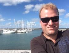 Selfie am Hafen