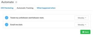 Statistiken können automatisiert via Twitter geteilt werden als auch per -mail zugesandt werden.