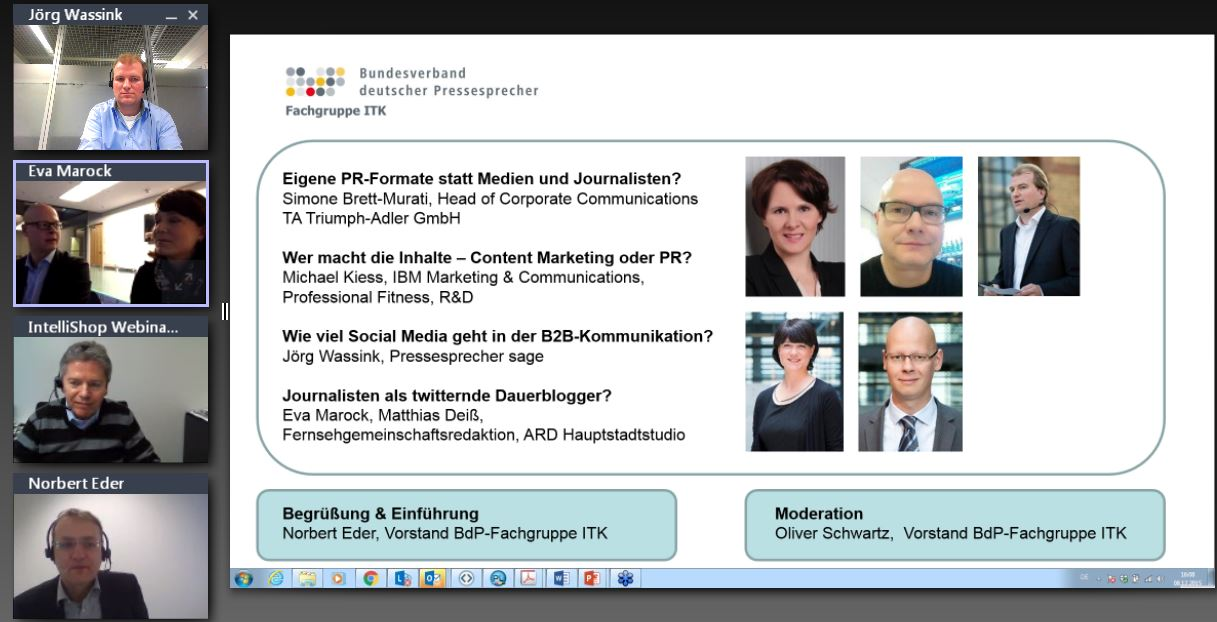 Screenshot des BdP-Webcasts