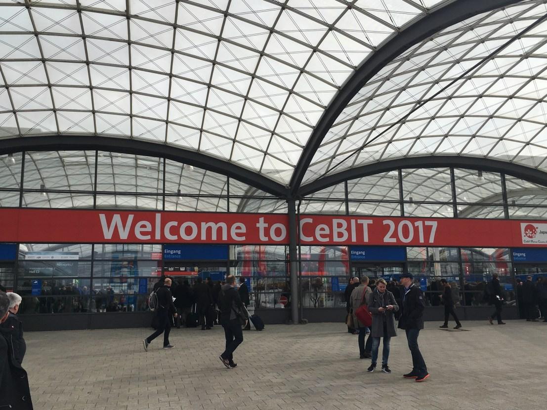 Eingangsbereich der CeBIT 2017