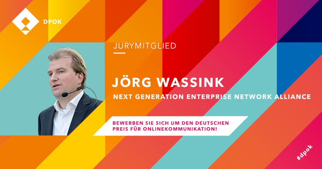 Jörg Wassink - Jury-Mitglied beim Deutschen Preis für Online-Kommunikation 2019 #dpok