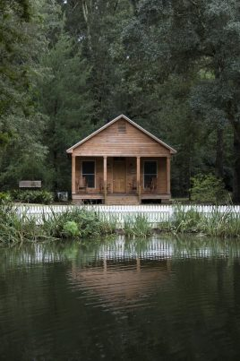 Guests have the option to stay in one of the cottages located behind the main house.