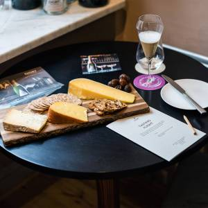 Cheese on table
