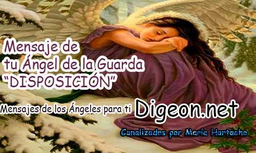 MENSAJE DE TU ÁNGEL DE LA GUARDA - 13-12-2017 -DISPOSICIÓN