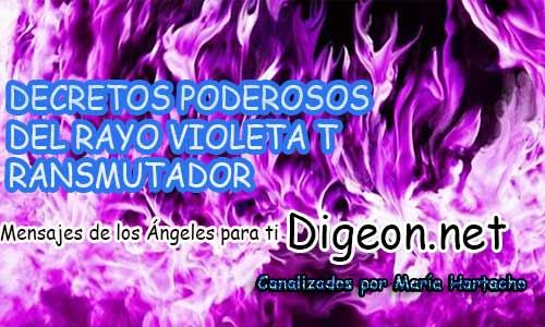 DECRETOS PODEROSOS DEL RAYO VIOLETA TRANSMUTADOR de saint germain y su llama violeta