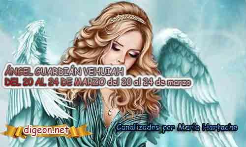 ÁNGEL GUARDIÁN VEHUIAH DEL 20 AL 24 DE MARZO ES el ángel que acompaña a los nacido del 20 al 24 de marzo