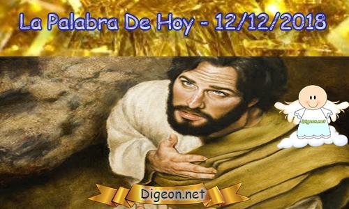 LA PALABRA DIARIA 12/12/2018 - Reflexión de EL EVANGELIO DE HOY 12/12/2018:El reino de Dios está entre ustedes. (Lucas 17:21)