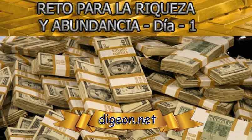 reto para la riqueza y abundancia - día 1