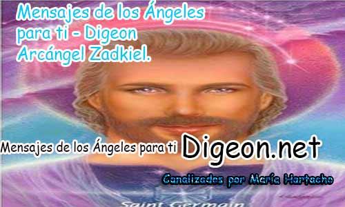 MENSAJES DE LOS ÁNGELES PARA TI - Digeon - 07 de Octubre - Arcángel Zadkiel - Día 1284 + Consejo de tu Ángel y Decreto para la Transmutación
