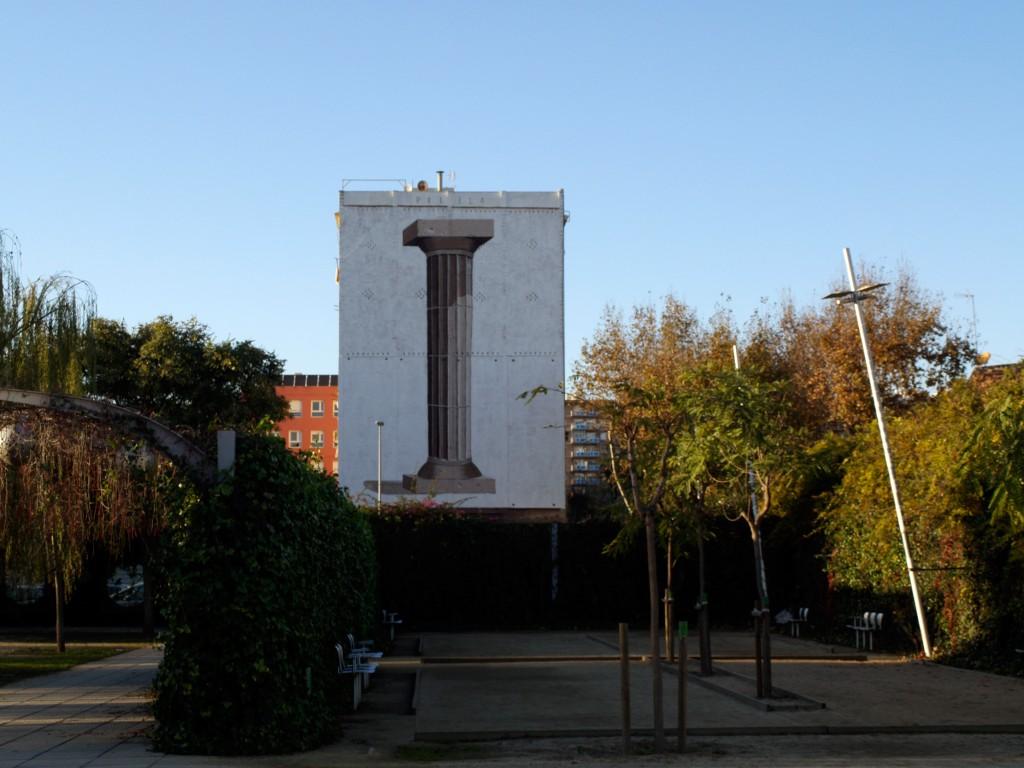 Escif arte urbano Barcelona digerible