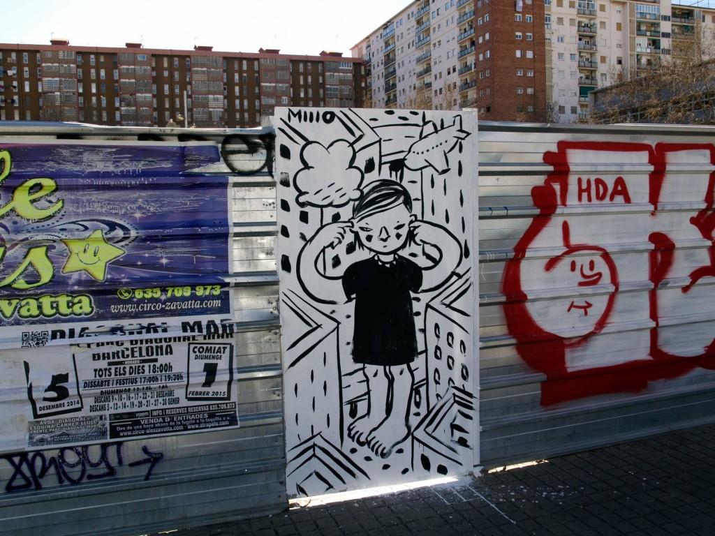 Millo, arte urbano barcelona, Digerible