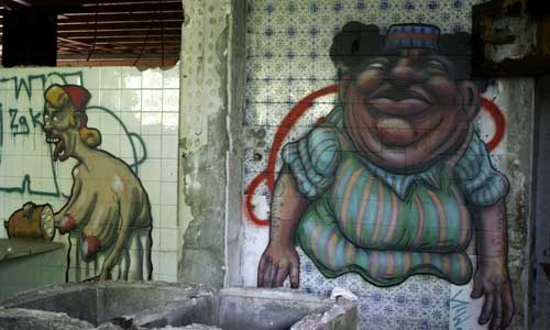 Sebastien Waknine & Simón Vázquez , arte urbano, digerible