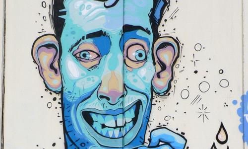 Aryz, arte urbano Barcelona, digerible