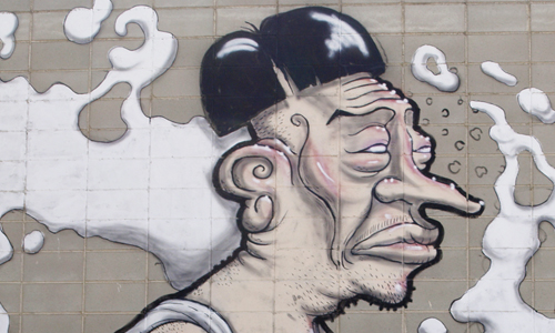 Arte urbano Barcelona, Simón Vázquez, digerible