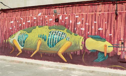 Chylo, arte urbano Fanzara, Valencia, Digerible