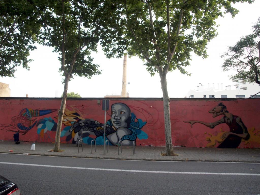 Arte urbano en Barcelona, Selva de mar, digerible