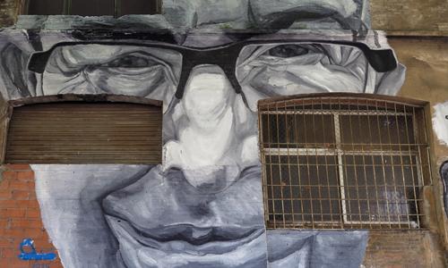 Arte urbano Barcelona, Jupiterfab, digerible