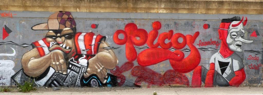 arte urbano Colera Catalunya, Digerible