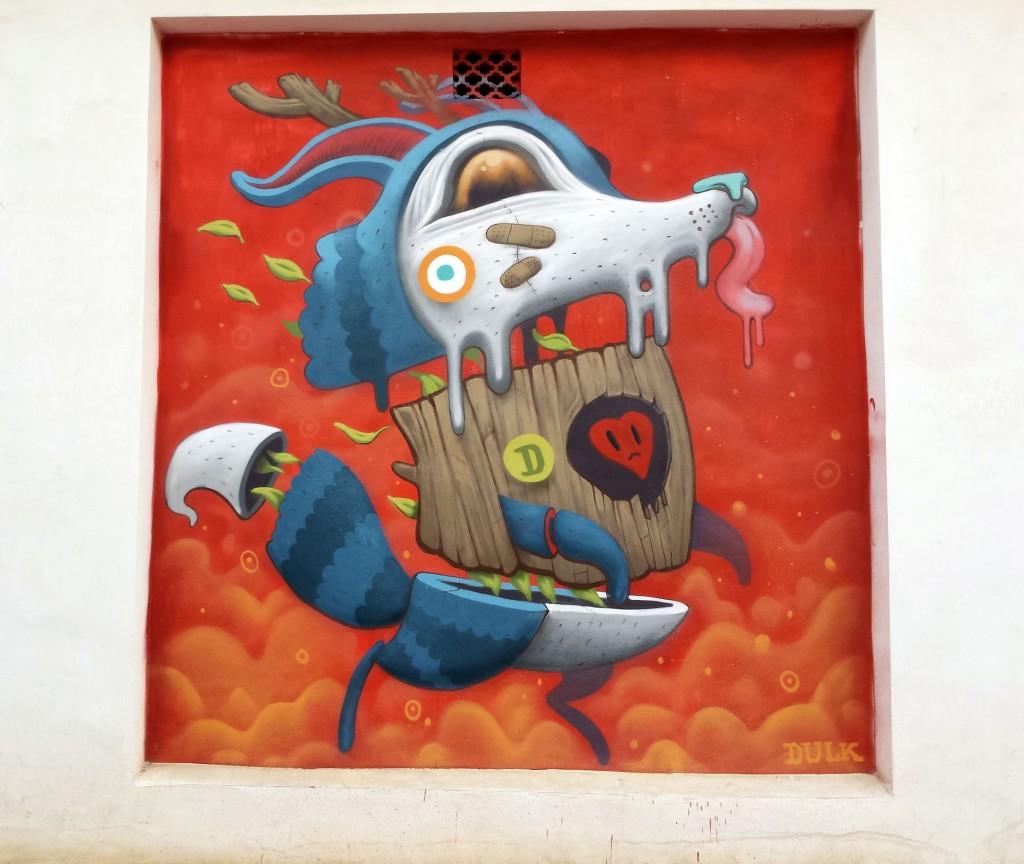 Dulk arte urbano en Murcia