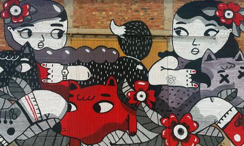 Amaia Arrazola arte urbano en GarGar Festival Penelles