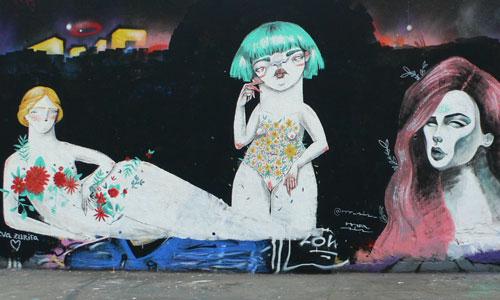 Eva Zurita, Mr Sis, Sandra Martin arte urbano en Barcelona