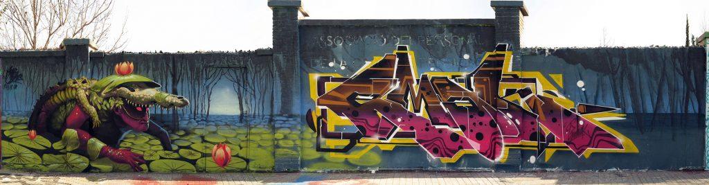 Emak & Harry Bones arte urbano en Barcelona