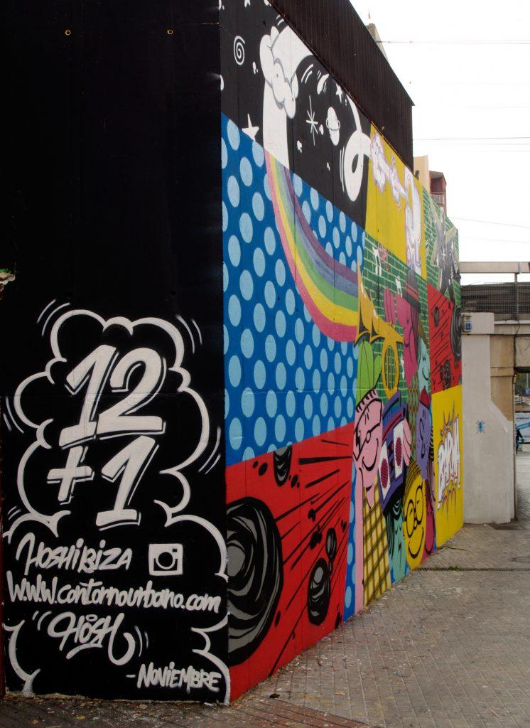 arte urbano Hosh, contorno urbano Hospitalet de Llobregat
