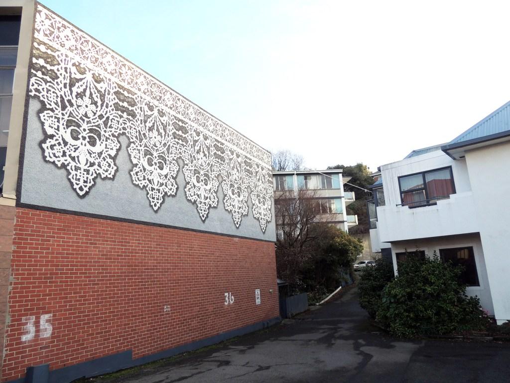 Arte urbano NeSpoon Dunedin, New Zealand