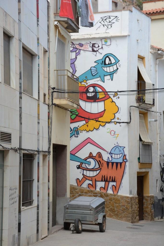 Arte urbano Pez y Sixe Paredes Fanzara