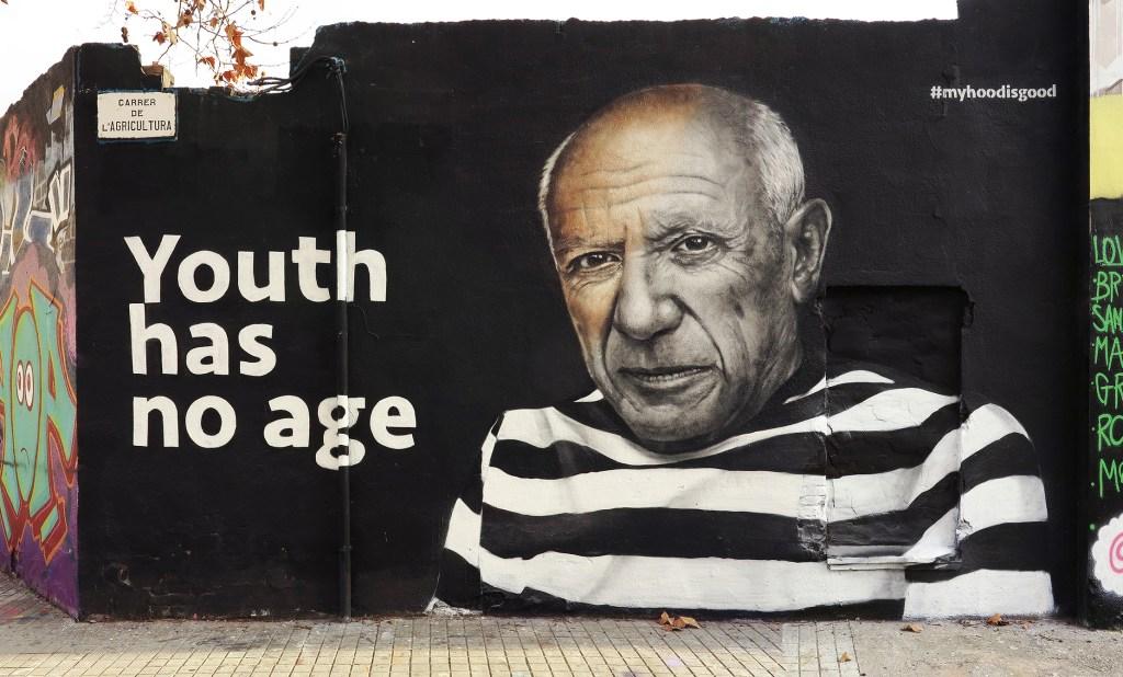 Arte urbano Hoodgraff en Barcelona