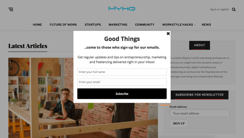 best email newsletters myHQ Digest