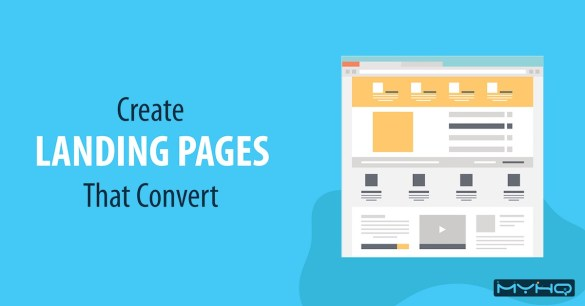 landing pages that convert myHQ