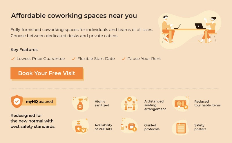 myHQ- Affordable productive coworking spaces near you