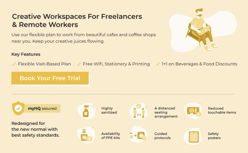 myHQ- Creative Workspaces for Freelancers