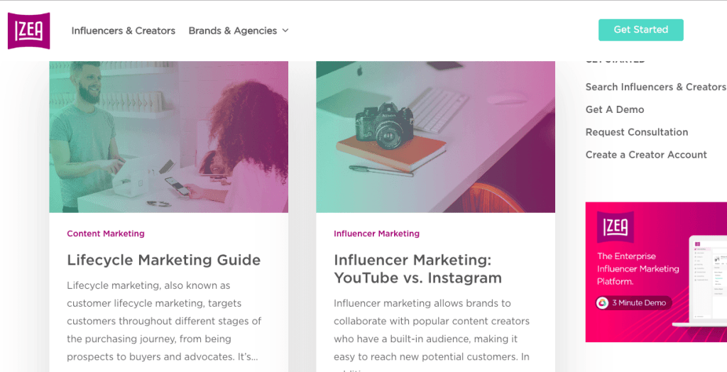 content marketing blog - IZEA